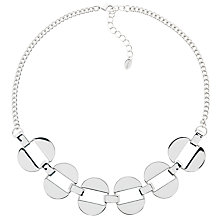 Buy Monet Polished Oval Links Necklace, Silver Online at johnlewis.com