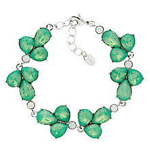 Buy Monet Glass Crystal Teardrop Bracelet, Silver/Pacific Opal Online at johnlewis.com