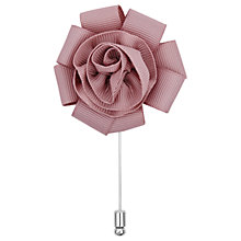 Buy Reiss Fern Flower Dress Pin, Soft Pink Online at johnlewis.com