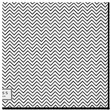 Buy Reiss Anders Zig Zag Silk Pocket Square, White/Black Online at johnlewis.com