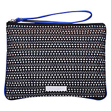Buy Carvela Alfie Matchbag Clutch Bag, Black Comb Online at johnlewis.com