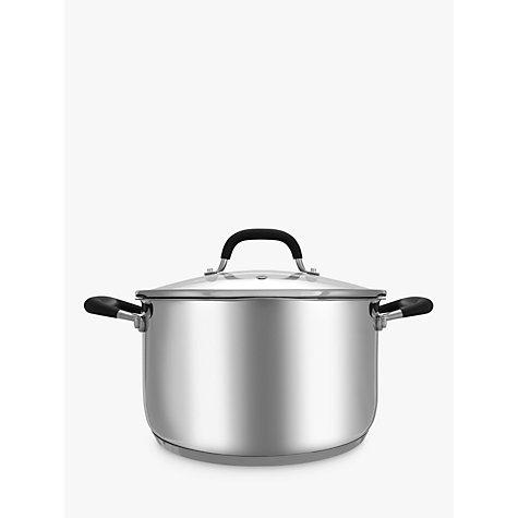 buy john lewis 39 the pan 39 stainless steel stock pot 24cm. Black Bedroom Furniture Sets. Home Design Ideas
