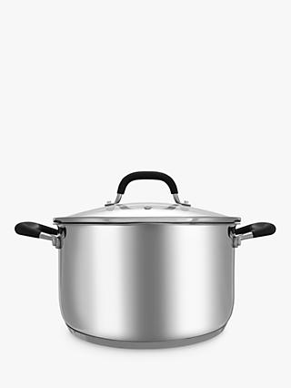 John Lewis & Partners 'The Pan' Stainless Steel Stock Pot, 24cm