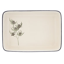 Buy John Lewis Rectangular Highland Pie Dish, Cream Online at johnlewis.com