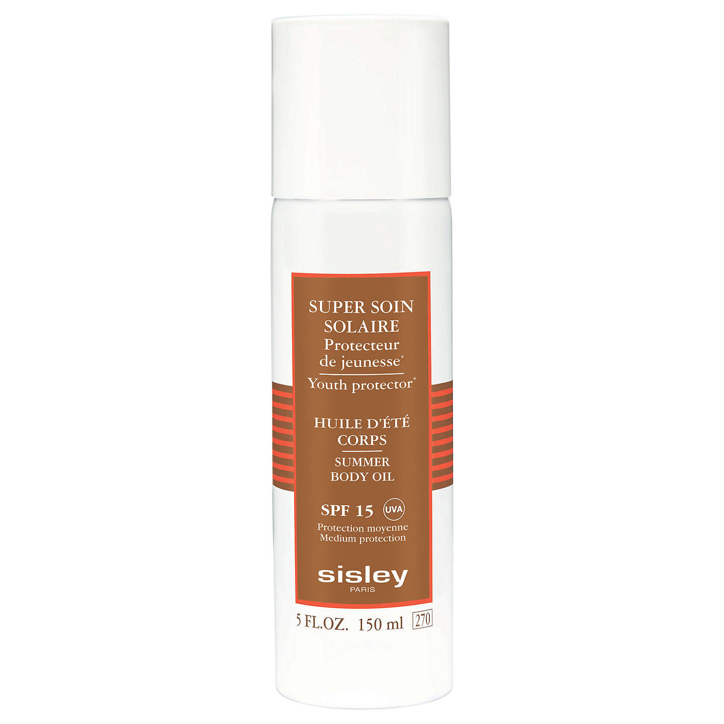 BuySisley Super Soin Solaire Silky Body Oil Sun Care SPF 15, 150ml Online at johnlewis.com