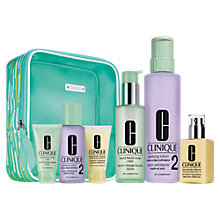 Buy Clinique Great Skin Home & Away Skincare Gift Set, Dry / Combination Skin Online at johnlewis.com
