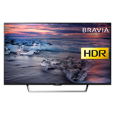 Sony Bravia KDL49WE753 LED HDR Full HD 1080p Smart TV, 49 with Freeview HD & Cable Management, Black