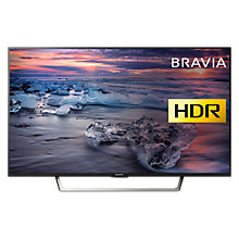"Buy Sony Bravia KDL49WE753 LED HDR Full HD 1080p Smart TV, 49"" with Freeview HD & Cable Management, Black Online at johnlewis.com"