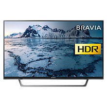"Buy Sony Bravia KDL40WE663 LED HDR Full HD 1080p Smart TV, 40"" with Freeview Play & Cable Management, Black Online at johnlewis.com"