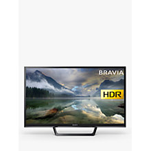 "Buy Sony Bravia 32WE613 LED HDR HD Ready 720p Smart TV, 32"" with Freeview HD & Cable Management, Black Online at johnlewis.com"