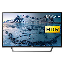 "Buy Sony Bravia KDL49WE663 LED HDR Full HD 1080p Smart TV, 49"" with Freeview HD & Cable Management, Black Online at johnlewis.com"