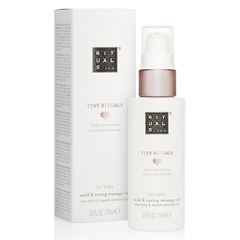 Buy Rituals Baby Massage Oil, 75ml Online at johnlewis.com