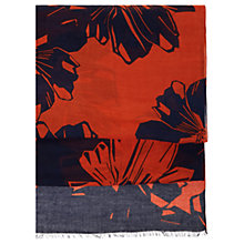 Buy Hobbs Woodblock Print Scarf, Navy/Cayenne Online at johnlewis.com