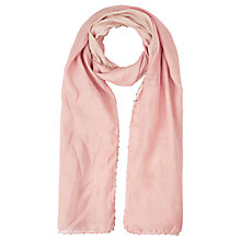 Buy Jigsaw Zig Line Bead Edge Scarf, Blush/Cream Online at johnlewis.com