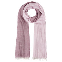 Buy Jigsaw Two Tone Fringe Scarf, Lilac Online at johnlewis.com