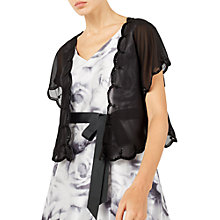 Buy Jacques Vert Scallop Edge Cover Up, Black Online at johnlewis.com