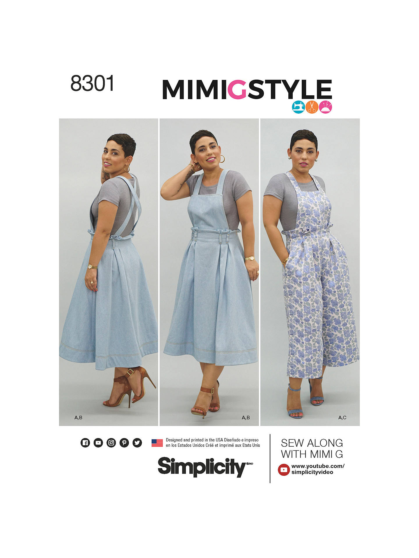 Simplicity Mimi G Women S Dress Sewing Pattern 8301 At John Lewis