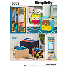 Buy Simplicity Home Organisers Sewing Pattern, 8309, One Size Online at johnlewis.com