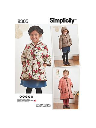 e87e0c633 Simplicity Children s Coat and Jacket Sewing Pattern