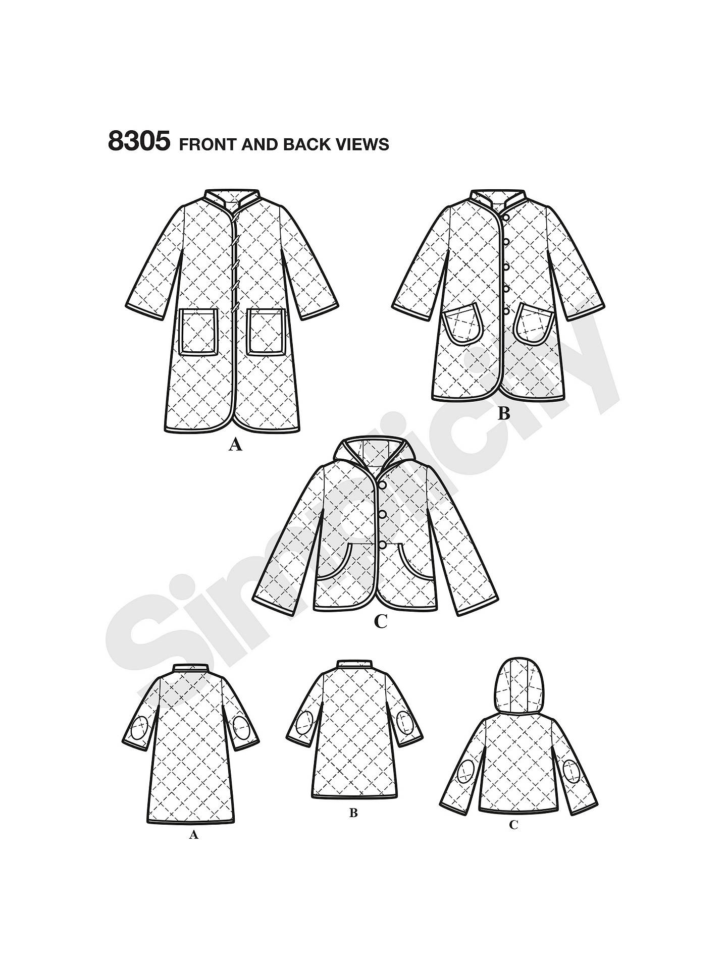 Simplicity Children\'s Coat and Jacket Sewing Pattern, 8305 at John ...
