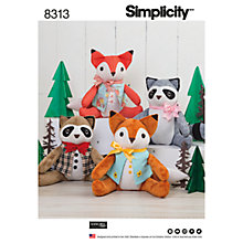 Buy Simplicity Costumes Stuffed Animal Paper Patterns, 8313 Online at johnlewis.com