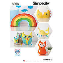 Buy Simplicity Pattern Stuffed Animals, 8358 Online at johnlewis.com