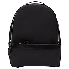 Buy Reiss Boston Leather Trim Backpack, Midnight Online at johnlewis.com