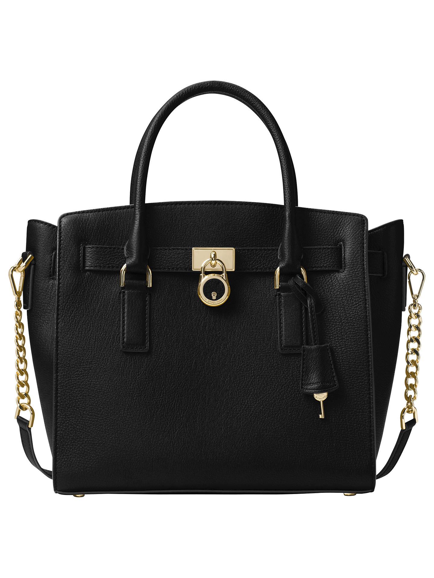 6df23b2b9b63ca Buy MICHAEL Michael Kors Hamilton Leather Large East/West Tote Bag, Black  Online at ...
