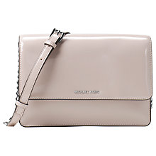 Buy MICHAEL Michael Kors Daniela Large Leather Across Body Purse, Cement Online at johnlewis.com