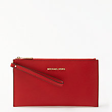 Buy MICHAEL Michael Kors Jet Set Travel Zip Top Leather Clutch Purse Online at johnlewis.com