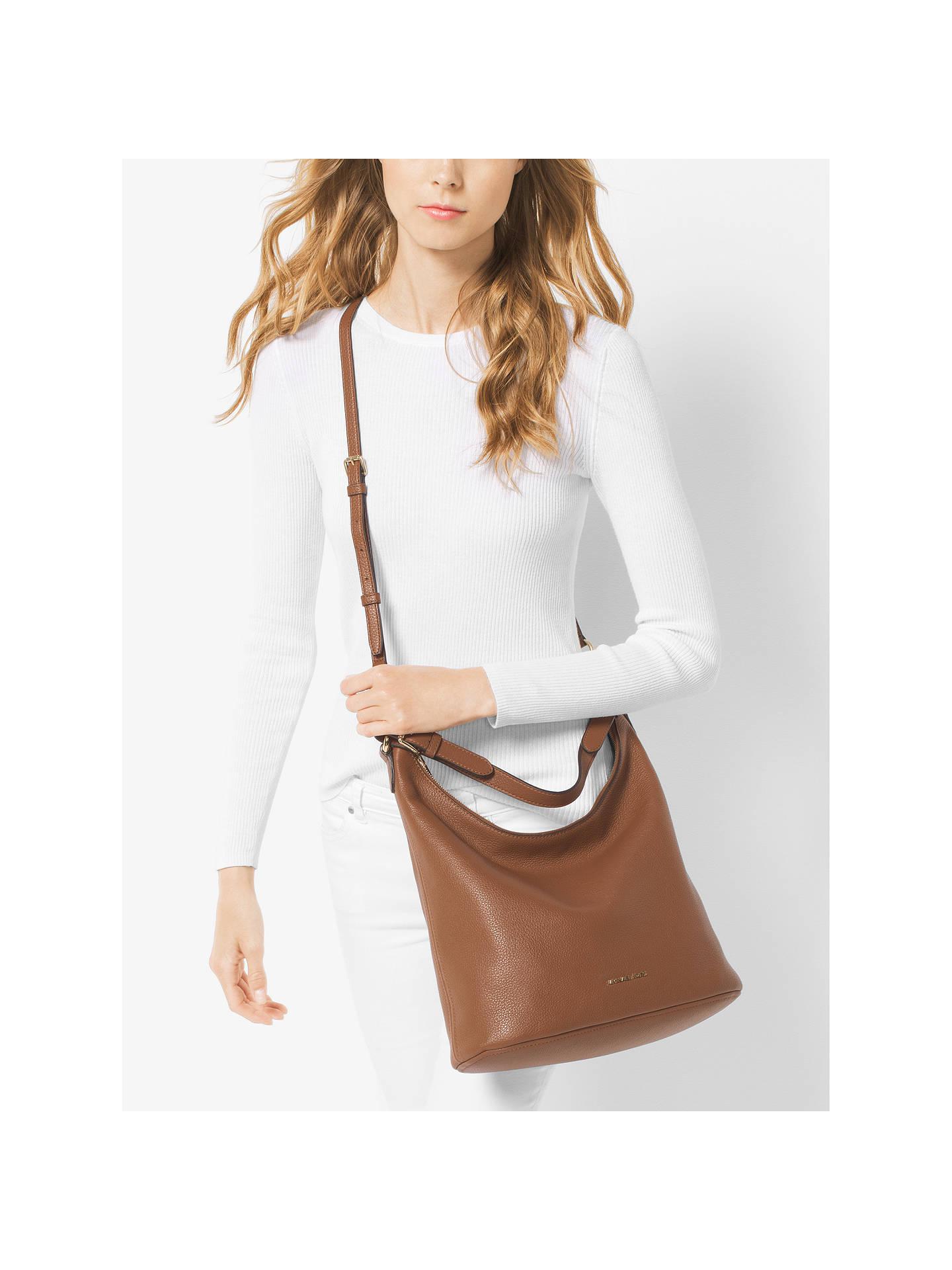 MICHAEL Michael Kors Lupita Leather Large Hobo Bag at John Lewis ... 11e5d1ce3bc57