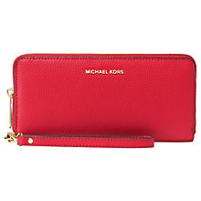 Buy MICHAEL Michael Kors Mercer Leather Continental Multi-Function Purse Online at johnlewis.com