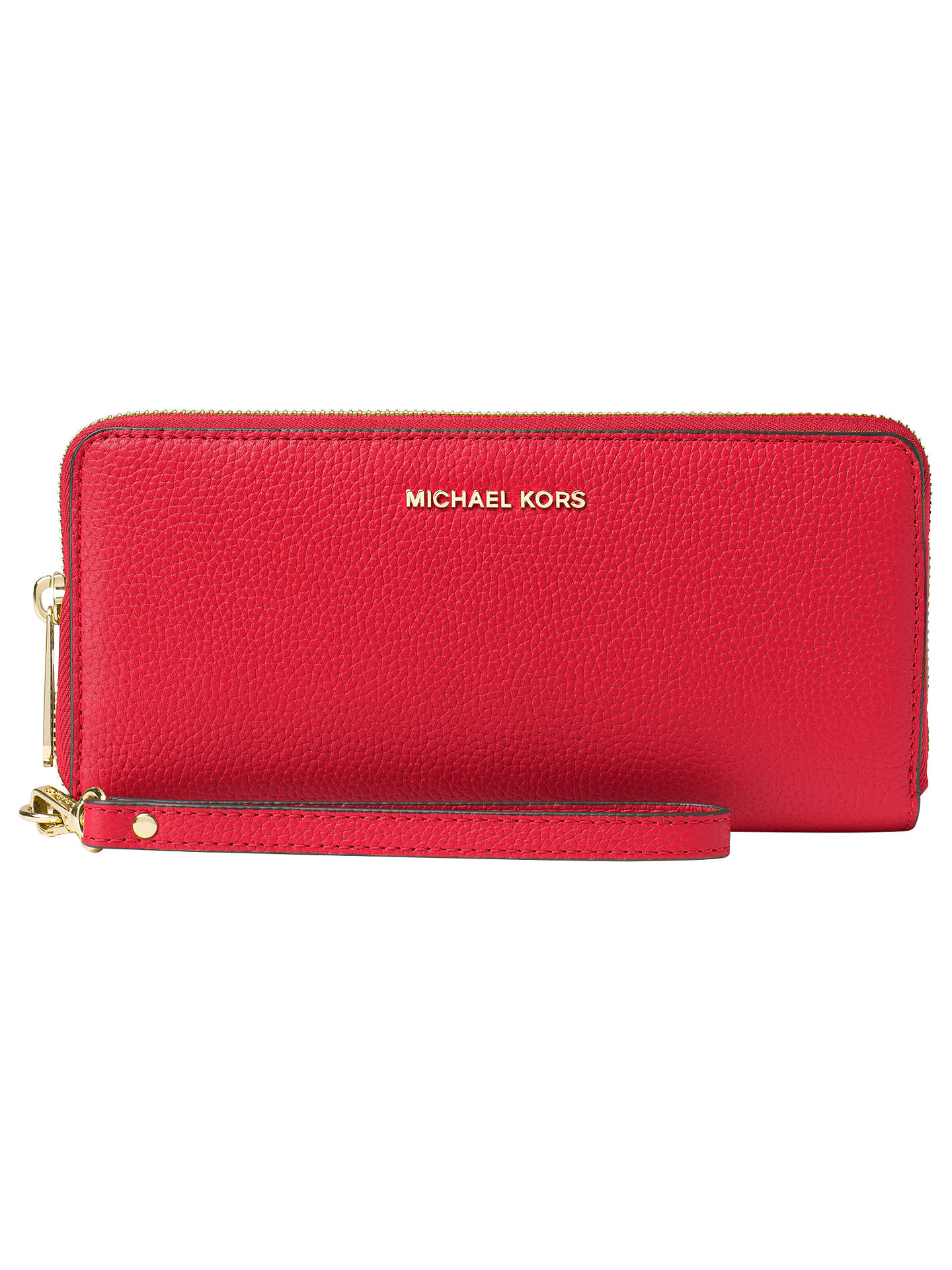 d51883f2b9d2a4 Buy MICHAEL Michael Kors Mercer Leather Continental Multi-Function Purse, Bright  Red Online at ...