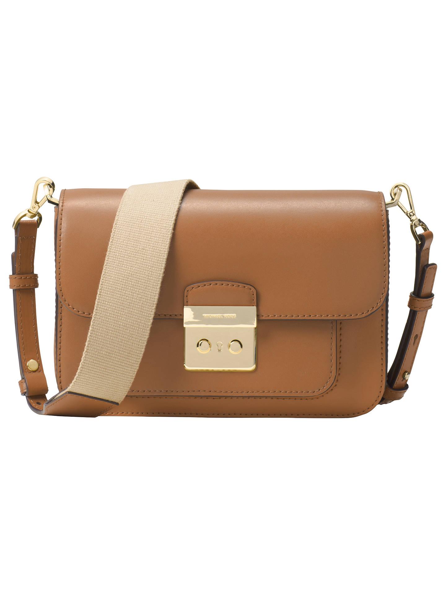 04806895600f97 Buy MICHAEL Michael Kors Sloan Editor Medium Leather Shoulder Bag, Acorn  Online at johnlewis.
