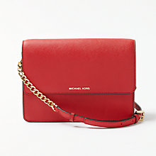 Buy MICHAEL Michael Kors Daniela Large Leather Cross Body Purse Online at johnlewis.com