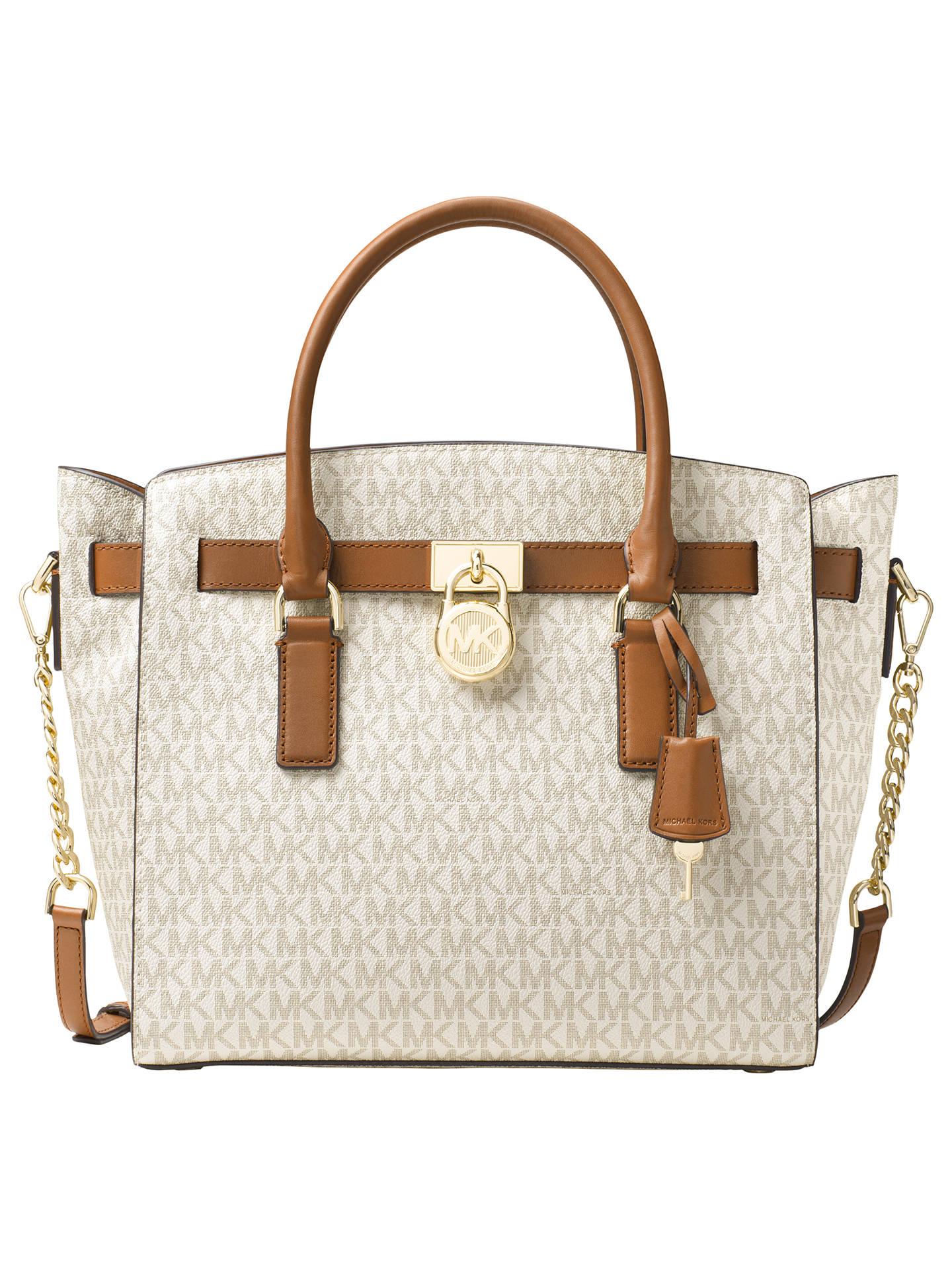 Michael Kors Hamilton Large East West Tote Bag Vanilla Online At Johnlewis