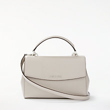 Buy MICHAEL Michael Kors Ava Leather Small Satchel Bag, Cement Online at johnlewis.com