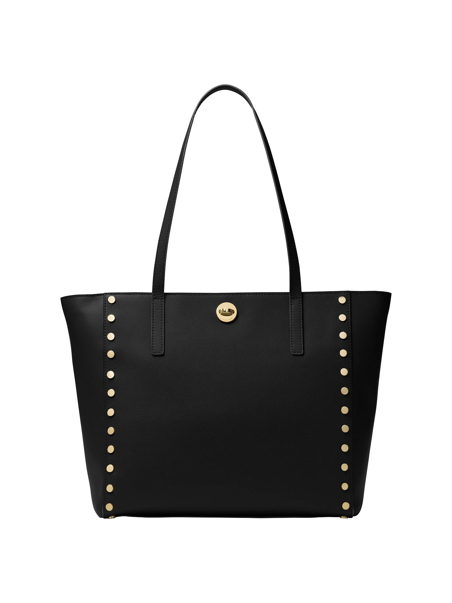 c0722080a2a6 Buy MICHAEL Michael Kors Rivington Leather Studded Large Tote Bag, Black  Online at johnlewis.