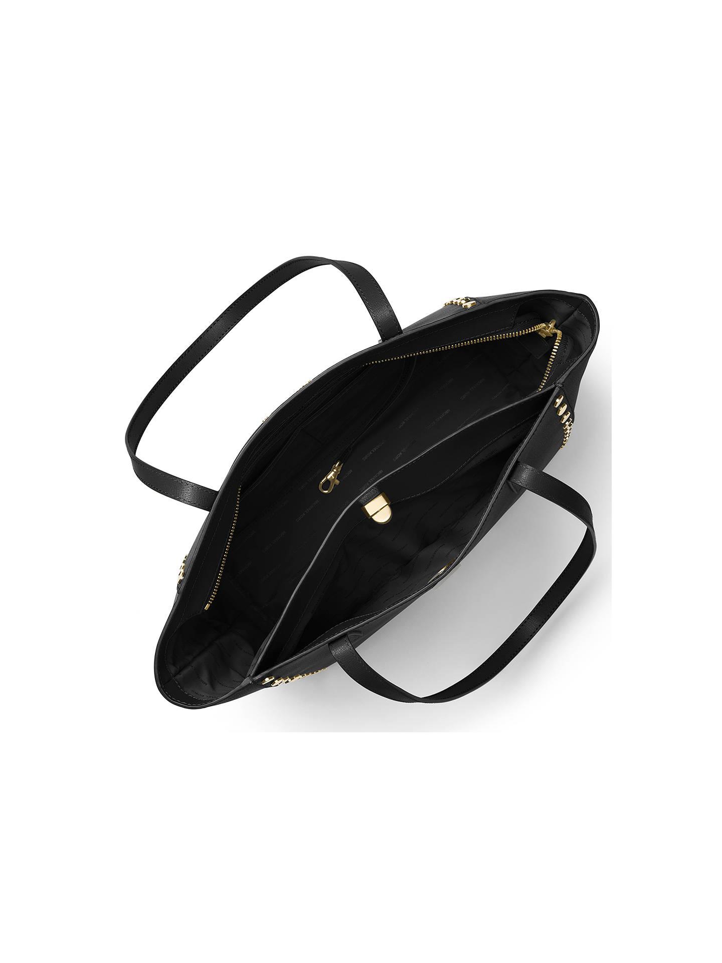 9dc5ec5f12ea Buy MICHAEL Michael Kors Rivington Leather Studded Large Tote Bag, Black  Online at johnlewis.