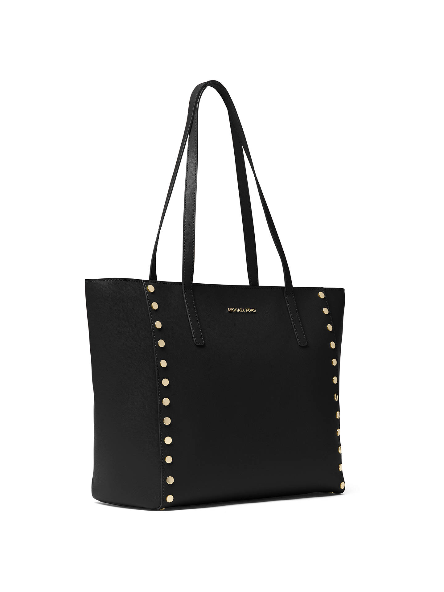 7617905363e0 Buy MICHAEL Michael Kors Rivington Leather Studded Large Tote Bag, Black  Online at johnlewis.