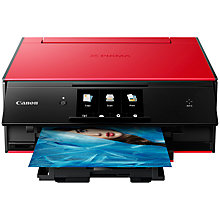 Buy Canon PIXMA TS9055 All-in-One Wireless Wi-Fi Printer with Auto-Tilting Touch Screen, Red/Black Online at johnlewis.com
