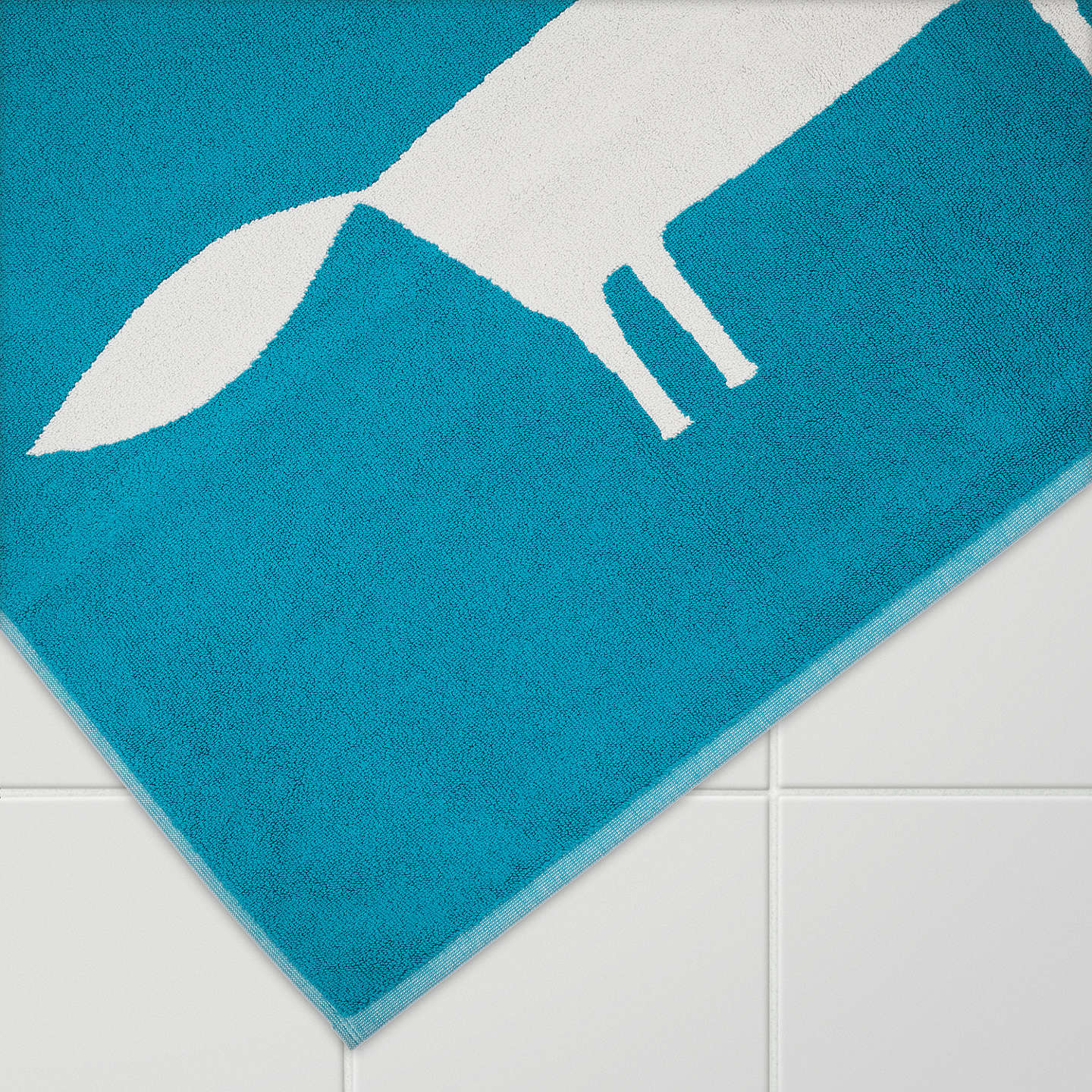 Buyscion Mr Fox Bath Mat, Teal Online At Johnlewiscom
