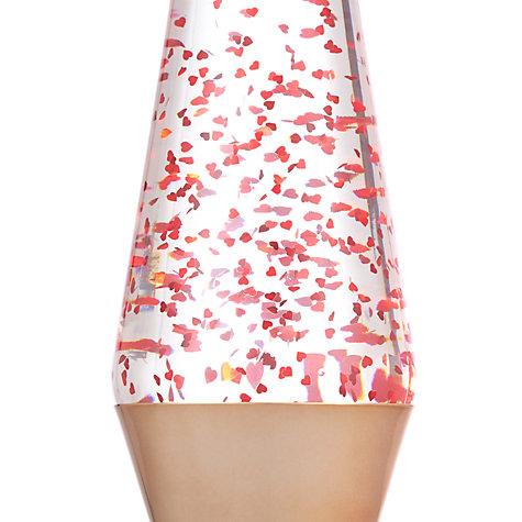 Buy Lava Lamp Table Lamp Rose Gold Glitter John Lewis