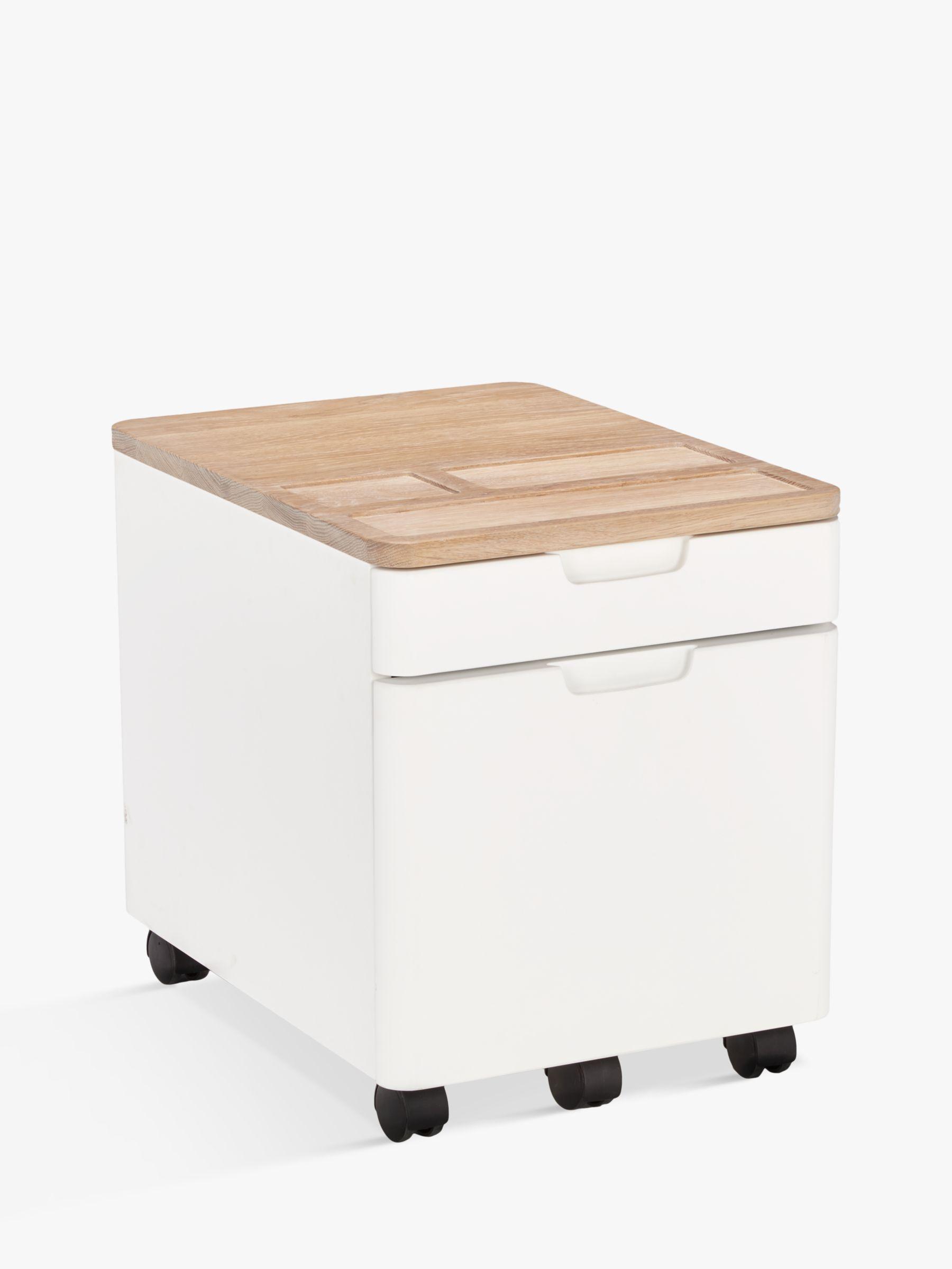 Ebbe Gehl for John Lewis Mira Filing Cabinet, White/Oak