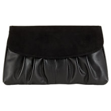 Buy Jacques Vert Suede Clutch Bag, Black Online at johnlewis.com