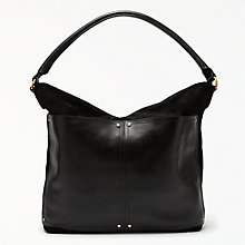 Buy John Lewis Aurora Leather Medium Shoulder Bag, Black Online at johnlewis.com