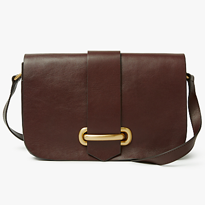 John Lewis Aurora Leather Small Satchel