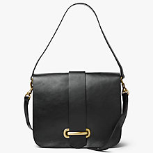 Buy John Lewis Aurora Leather Large Satchel, Black Online at johnlewis.com