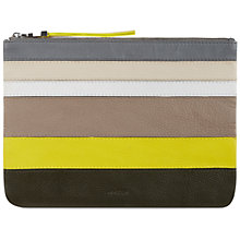Buy Jaeger Leather Stripe Clutch Bag, Yellow Online at johnlewis.com