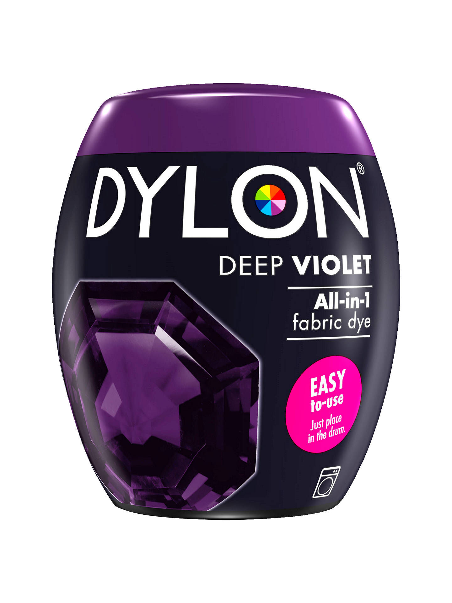 BuyDylon All-In-1 Fabric Dye Pod, 350g, Deep Violet Online at johnlewis.com